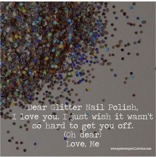 Glitter Nail Polish Valentine