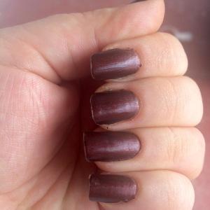 matte marsala manicure